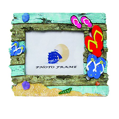 Rockin Gear Picture Frame - Real Driftwood Hand Painted and Hand Crafted Photo Frame - Holds a 4