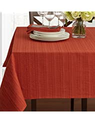 "Textured Fabric Tablecloth, Bison, 60"" x 120"" Rectangular"