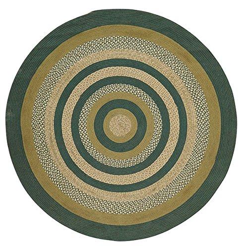 - Rustic & Lodge Flooring - Sherwood Green Round Jute Rug, 6' Diameter