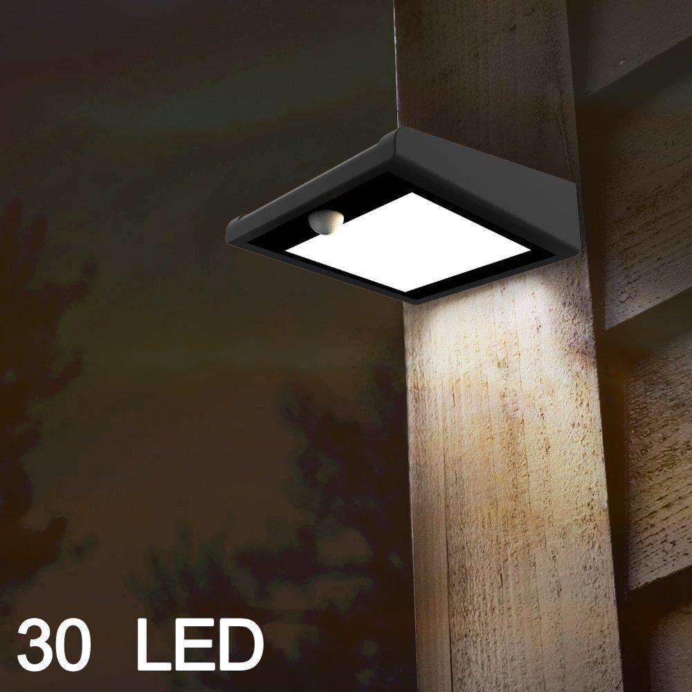 Brightest 30 LED Solar Lights, Mulcolor Waterproof Wireless Solar ...