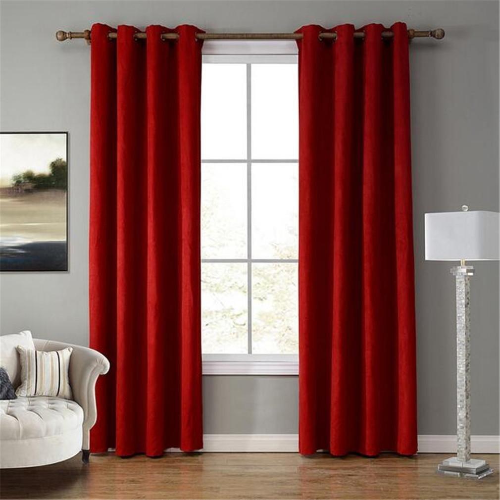 STEAM PANDA Finestra tende oscuranti rosso camoscio velluto semplice ...