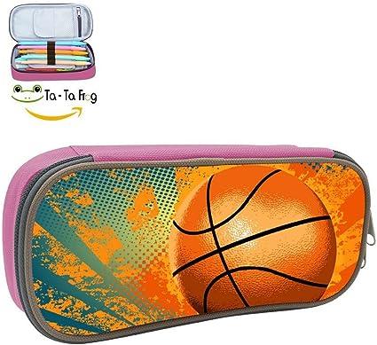 Estuche para lápices de baloncesto para la escuela, gran capacidad: Amazon.es: Oficina y papelería
