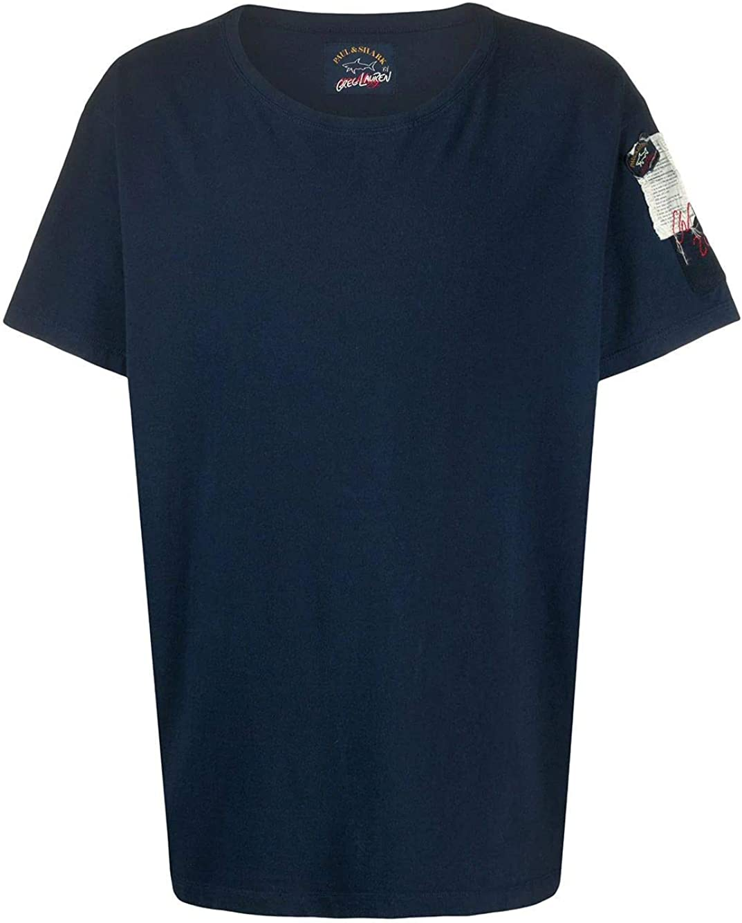 PAUL & SHARK Luxury Fashion Man E20P1464NAVY Blue Cotton T-Shirt   Spring Summer 20
