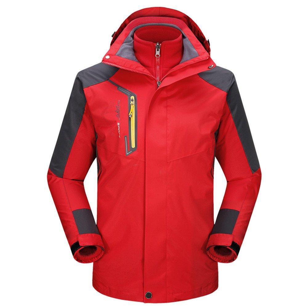 YOULUOKA Men Outdoor 3-in-1 Interchange Jackets Detachable Fleece Liner