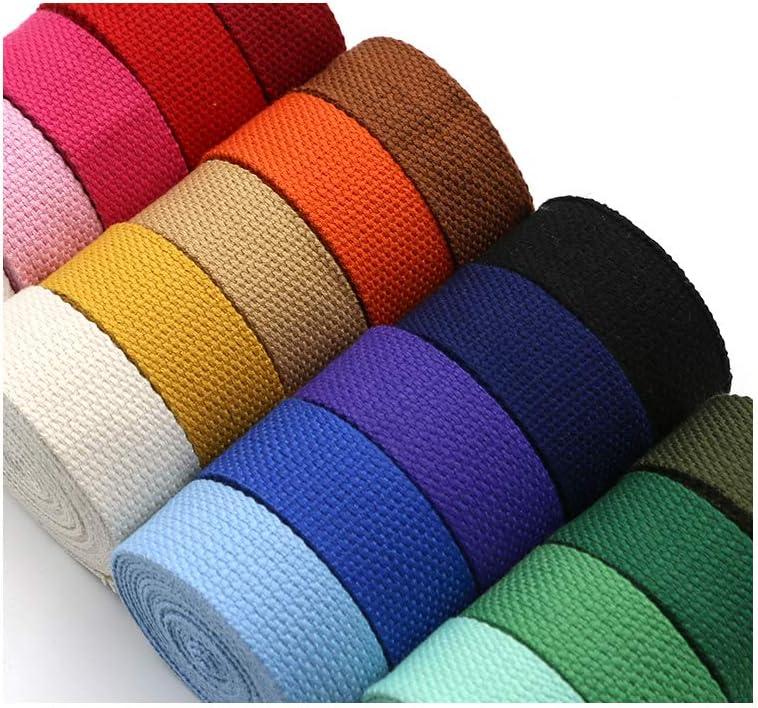Aumey Cotton Webbing,Webbing Bag Handles Bag Strap for Tote Bag Upholstery Webbing,78 Inch Olive drab, Width=2 inch