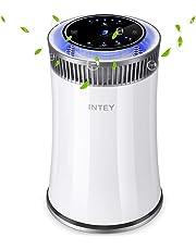 INTEY NY-BG55 Purificador de Aire Eficiente,Filtro HEPA-99.97% Efectos de Filtración, Desinfección UV, Formaldehído del Filtro, Humo Neutralizante, Resistencia a los Alérgenos para Oficina y Hogar