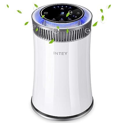 INTEY Hepa purificador de aire silencioso con temporizador de apagado/botón de encendido/luz