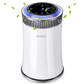 INTEY Purificador de Aire Eficiente,Filtro HEPA-99.97% Efectos de Filtración, Desinfección