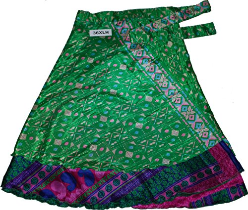 Printed Reversible Two Layer Wrap Around Plus Size Skirts (36XLH)