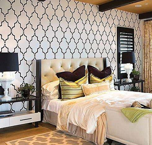 (Wall Stencil Marrakech Trellis - Lg - Reusable stencils for DIY decor)