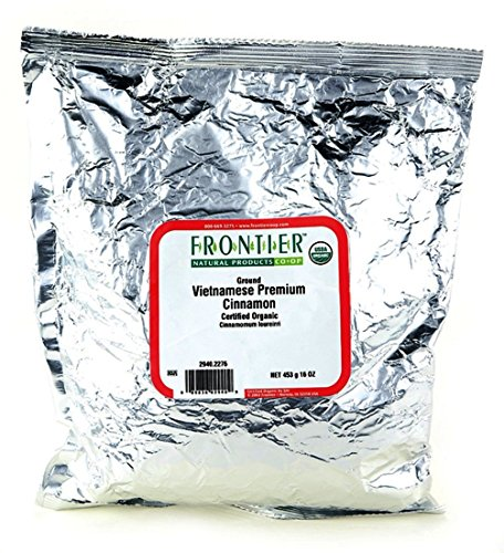 Frontier Co-op Organic Vietnamese Cinnamon, Ground, 1 Pound Bulk Bag