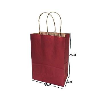 Amazon.com: Bolsas de regalo de Chitop con asas de papel ...