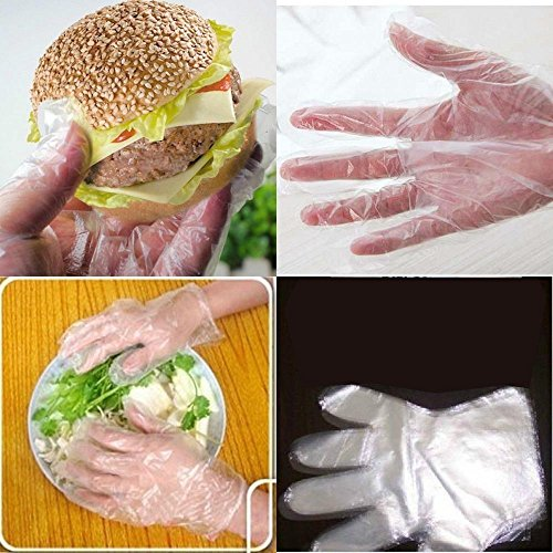 S&M TREADE-100x Polyethylene Food Service Disposable Gloves (Vinyl Nitrile Latex Free) Hot