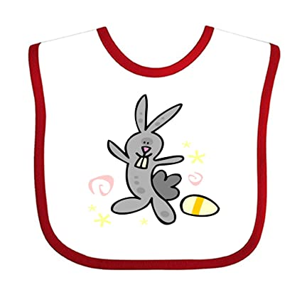 Bunny Cartoon Vector Art Babero para bebé, toalla de algodón suave, baberos de saliva