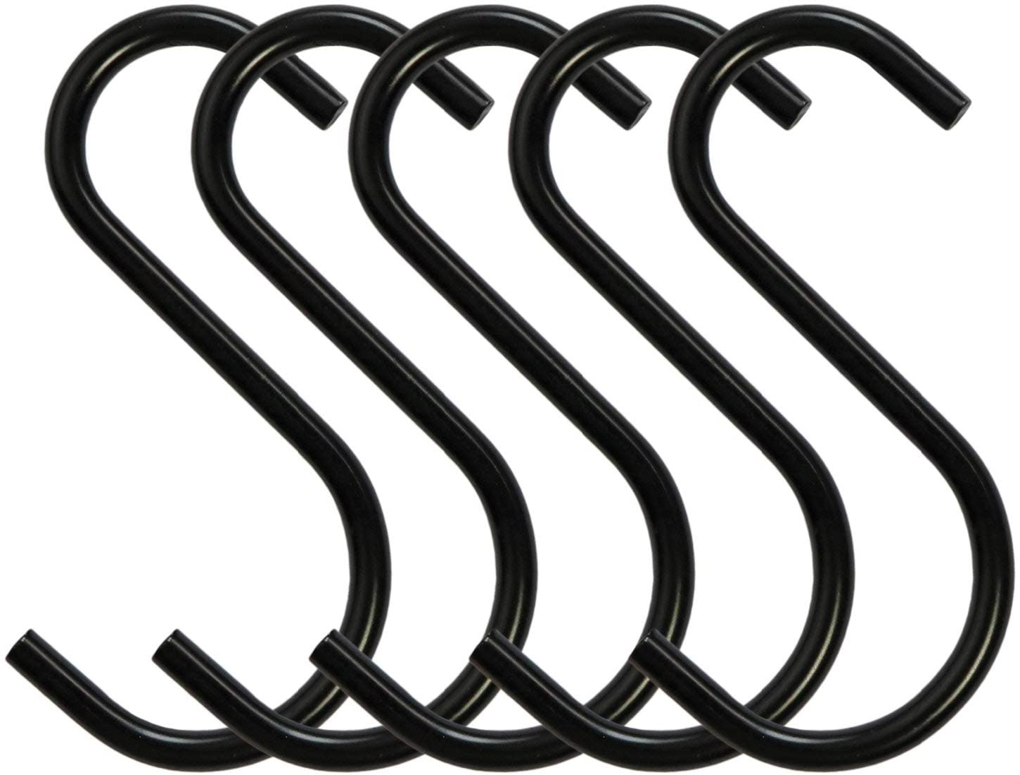 12 Pack Aluminum S Shaped Hooks Matte Finish S Hooks Hanging Pots Pans Plants