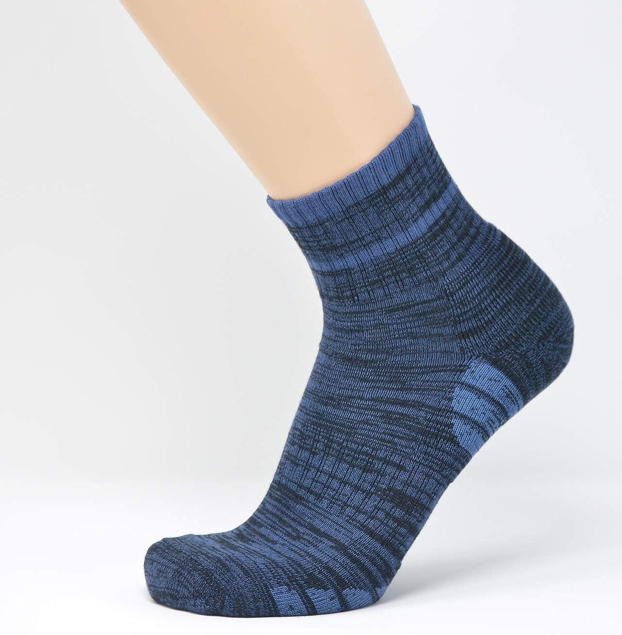 4-Pack u/&i Mens Performance Cushion Cotton Comfort Mid Cut Quarter Athletic Socks