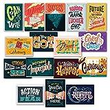 "16 pósteres inspiradores para aula, citas motivadoras a todo color para estudiantes, decoraciones de aula de profesores, 13 x 19 pulgadas (003), Paper, 13"" x 19"""