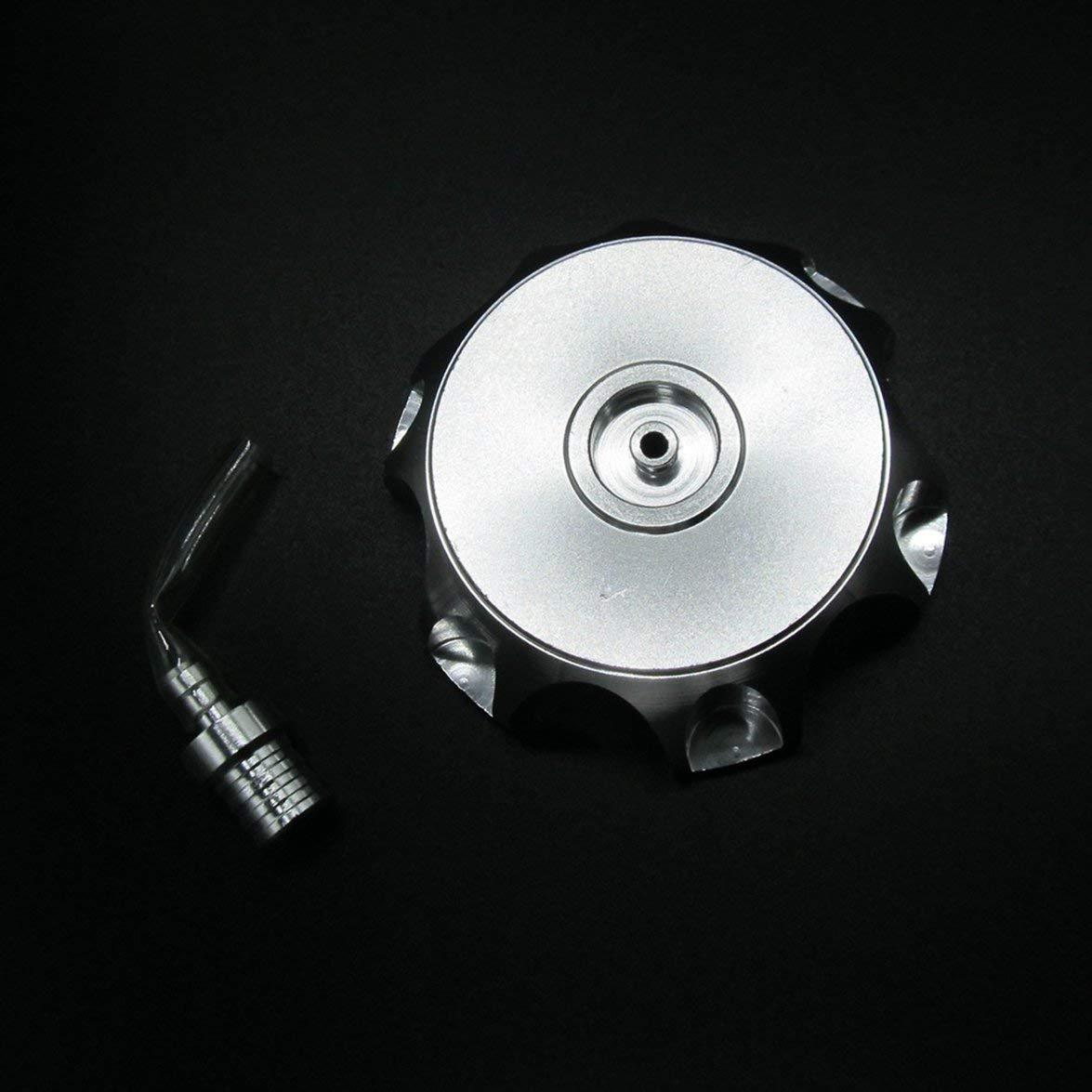 Kongqiabona Bouchon de r/éservoir de Carburant avec Tuba Cross-Country Moto modifi/ée Bouchon en Alliage daluminium Hexagonal