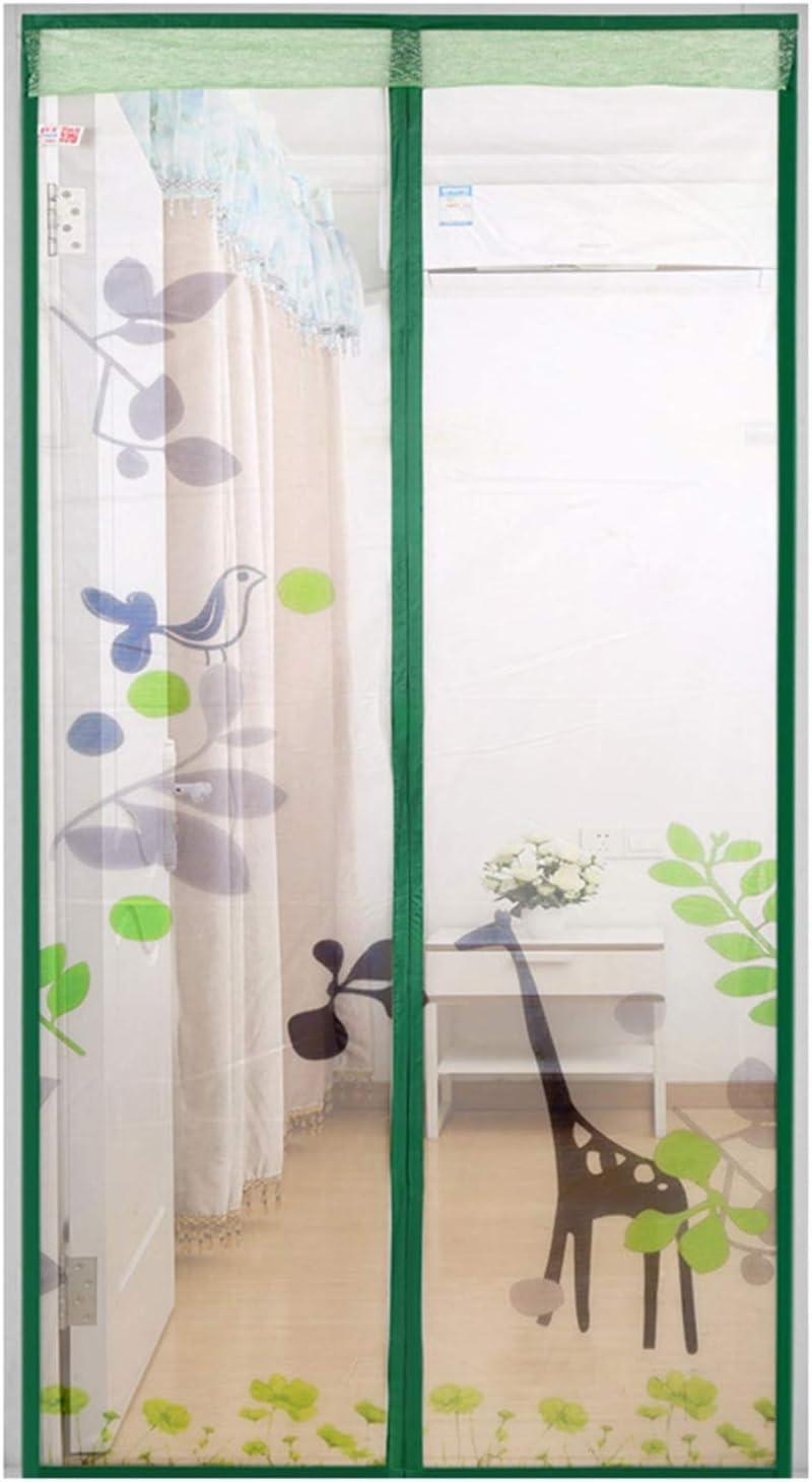FR&RF - Cortina de malla mágica para puerta con imán para patio, puerta corredera automática para evitar que los insectos entren y salgan, 90*210