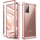 Dexnor for Galaxy Note 20 Case with Screen Protector Clear Electroplated Metal 360 Full Body Rugged Protective Shockproof Har