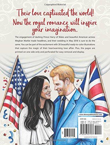 Amazon Harry And Meghan A Love Story Coloring Book 9780486827537 Teresa Goodridge Books