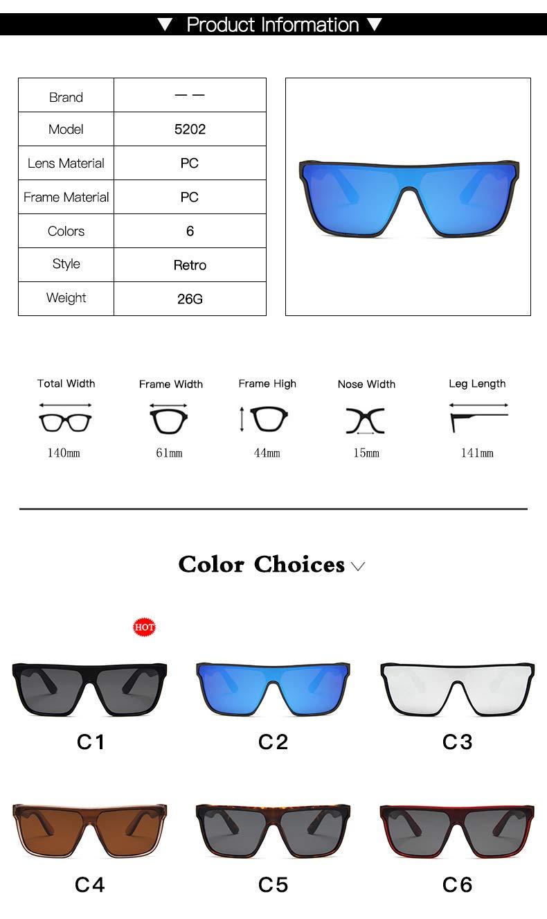 Amazon.com : YLNJYJ Gafas De Sol De Gran Tamaño De La ...