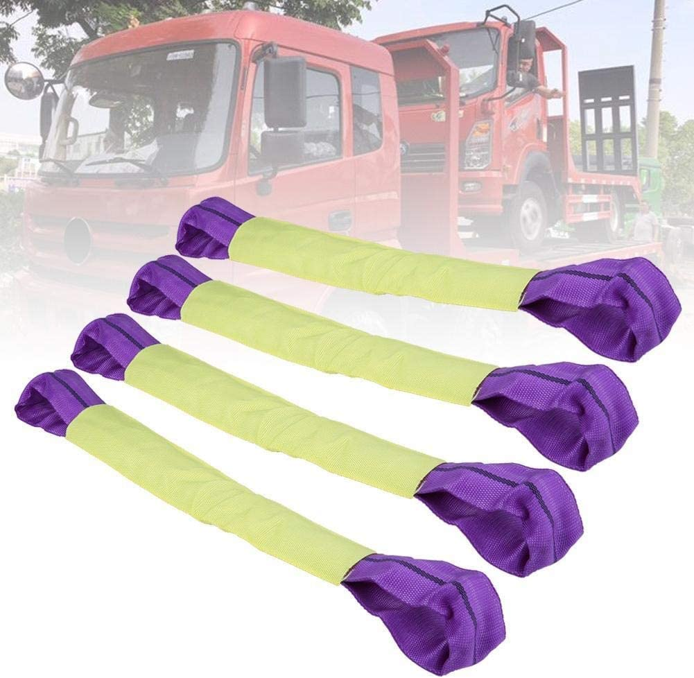 Tie Down Straps KSTE 4 x Alloy Wheel Bridging,Security Link Straps for Axle Recovery Vehicle,Trailer Transporter,Yellow and Purple Stripes.