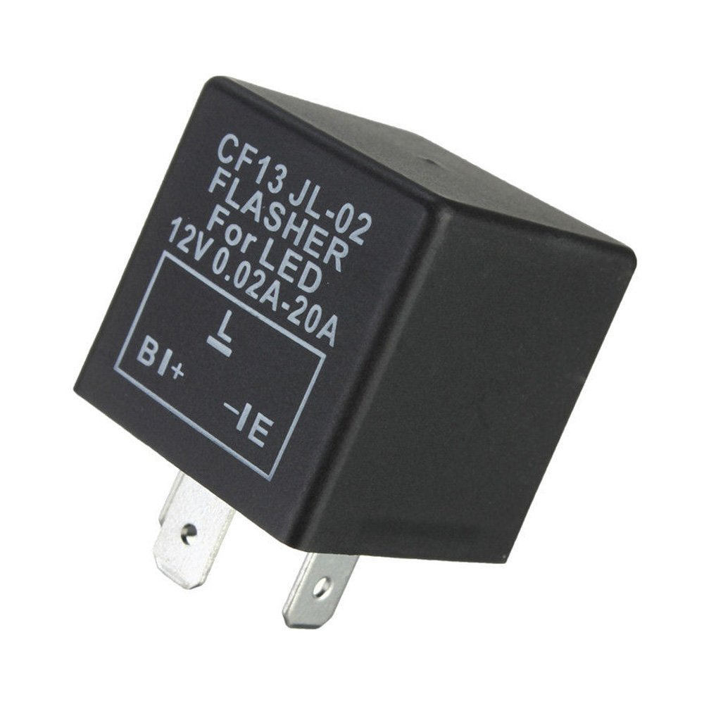 0,02a-20a Blinkrelais pour DEL Clignotants 3-pol 12 V