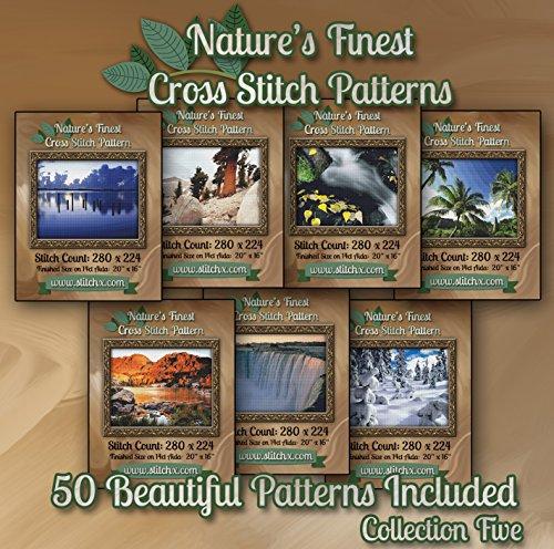 (Nature's Finest Cross Stitch Patterns - Collection Five - 50 Beautiful Landscape/Scenery Cross Stitch Designs on CD)