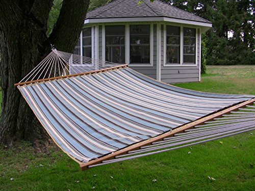 Eclipse Collection Sunbrella Quilted Hammock - Double (Carnegie Celeste) by Eclipse Curtains