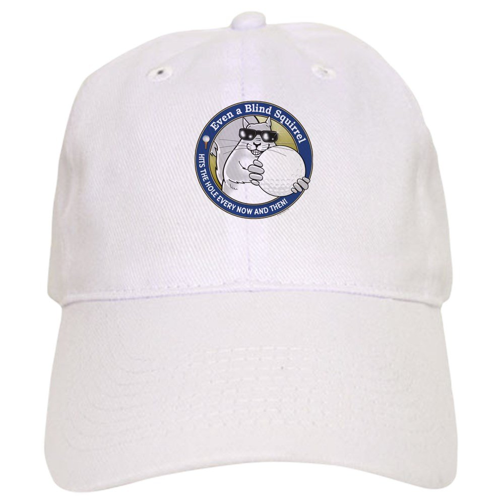 742650a7e2409 Amazon.com  CafePress - Golf Blind Squirrel Cap - Baseball Cap with  Adjustable Closure
