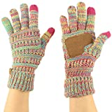 Winter CC Quad Touch Screen Smart Cellphone Finger Tips Warm Soft Gloves Rainbow