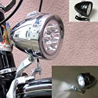 GOODKSSOP Bright 6 LED Metal Shell Front Light for Bicycle Headlight Retro Bike Head Lamp Classical Vintage Night Riding…