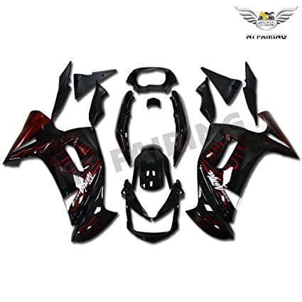 Amazon.com: NT FAIRING Black Red Flames Fairing Fit for ...