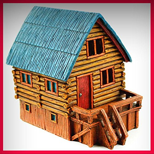 Fairy Garden Fun LED Lighted Log Cabin Fairy House - My Mini Fairy Garden Dollhouse Accessories for Outdoor or House Decor ()