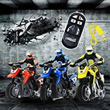 Qiyun Kids Infrared Electric Remote Control Motorcycle Model Car Sound Toys Color Random