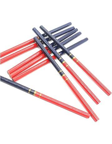 Herramienta de escritura f/ácil 72Pcs 175mm octogonal duro rojo Negro Plomo L/ápiz del carpintero carpinter/ía herramienta de marcado