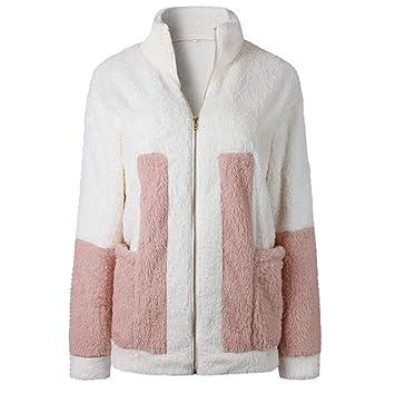 Chaqueta de forro polar para mujer, estilo casual, con cremallera, cálida, de manga larga, para invierno blanco blanco M/UK:14: Amazon.es: Coche y moto