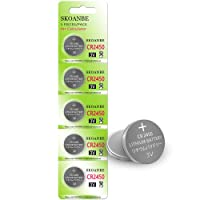 SKOANBE 5Pack CR2450 Lithium 3V Button Coin Cell 2450 Battery