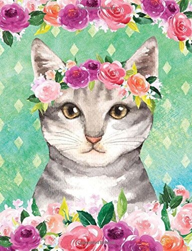 Download My Big Fat Journal Notebook For Cat Lovers Tabby In Flowers: Jumbo Sized Ruled Notebook Journal - 300 Plus Lined and Numbered Pages With Index For ... by 11 Size (Jumbo Lined Journal 2) (Volume 2) pdf epub