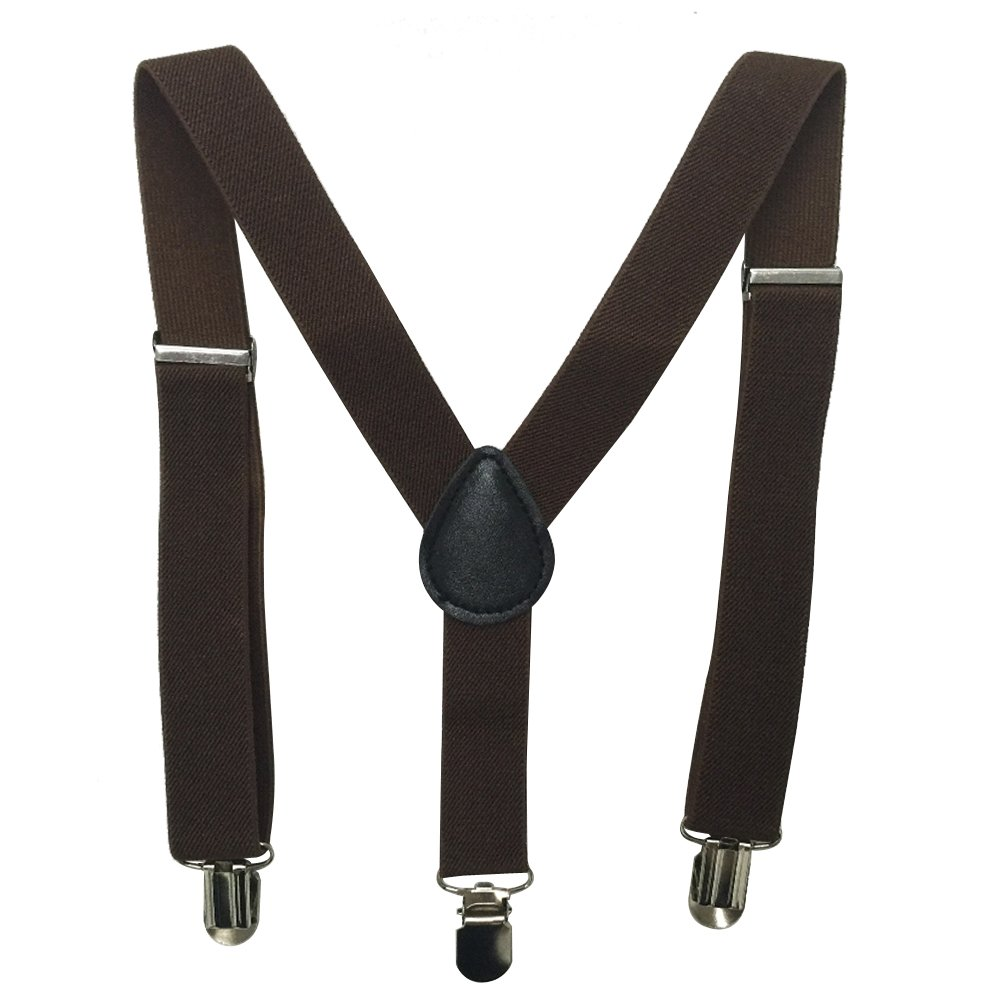 Ainow Kids and Baby Elastic Adjustable 1 inch Suspenders Multi Color