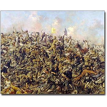 Custer/'s Last Stand by Edgar Samuel Paxson Custom Framed Finest Quality Print