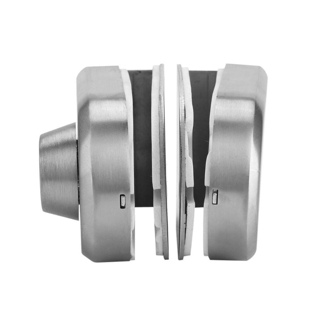 Glass Door Lock,Acogedor 10~12mm Stainless Steel Anti-Theft Security Lock with Keys Open//Close Home Hotel Office Bathroom Use