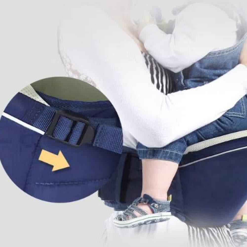 mi ji Portabeb/é de Cadera para beb/és Cintur/ón de Cintura para ni/ños con Correa Ajustable y Bolsillo de Malla Baby Carrier Baby Hipseat Azul