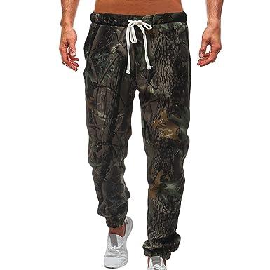 3495e2a814a9 Herren Tarnung Jogginghosen - Mode Trainingshose Sporthose mit Taschen Bequem  Elastische Taille Stoffhose Lange Sweatpants für