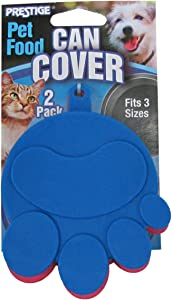Prestige Universal Canned Food Covers with Paw Print Design (2 Pack)