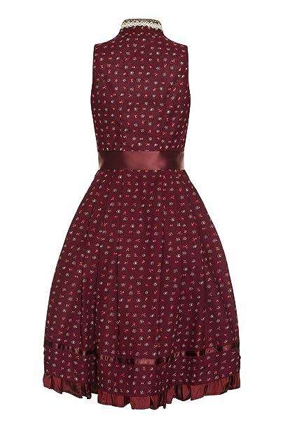 Edelheiss Damen Mini Dirndl 60er dunkelrot-creme Sally 131936, Größe 30:  Amazon.de: Bekleidung