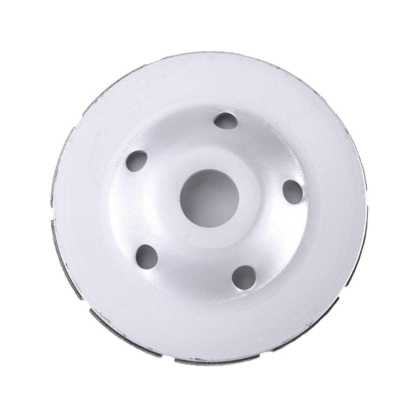 Asfalto de Pulido de cer/ámica PRINDIY Disco de Pulido de Diamante Rueda de Copa de Doble Fila 125 mm 5 Pulgadas para Amoladora Angular Amolado de Piedra