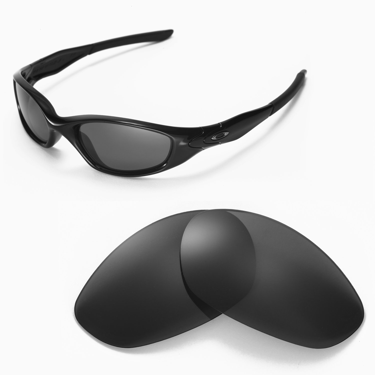 oakley minute 2.0 sunglasses black  walleva replacement lenses for oakley minute 2.0 sunglasses 6 options available