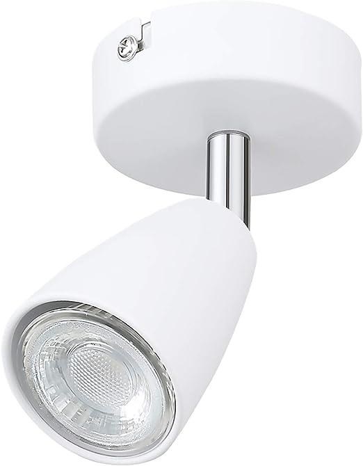 DM Leuchten Wandlampe Deckenlampe LED Lampe schwenkbar 1 flammig inkl warmwei/ß Leuchtmittel 1x 3 Watt Wei/ß LED Wandleuchte Deckenleuchte LED Strahler LED Spot